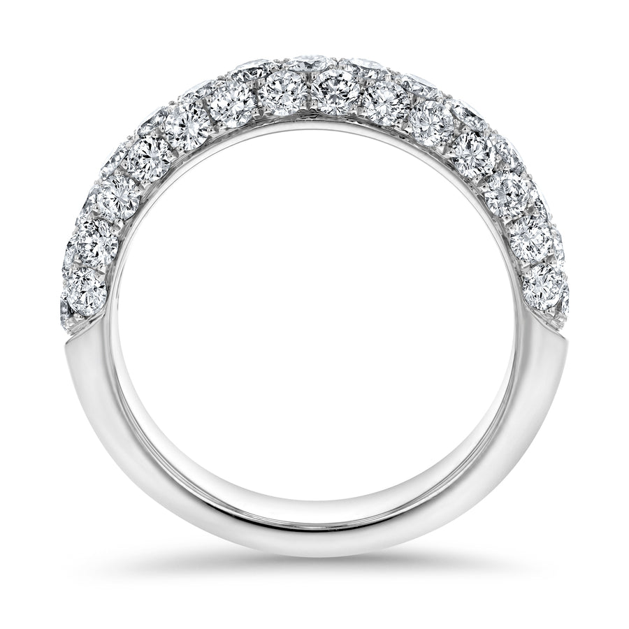 Three Row Diamond Pave Band