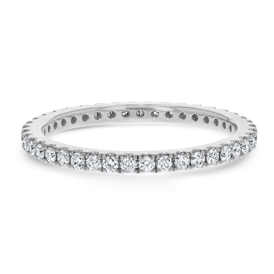 Open Air Set Petite Diamond Eternity Band, 0.49 Carats - R&R Jewelers