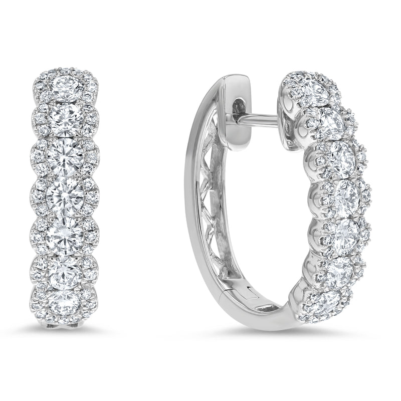 Diamond Illusion Huggie Earrings - R&R Jewelers