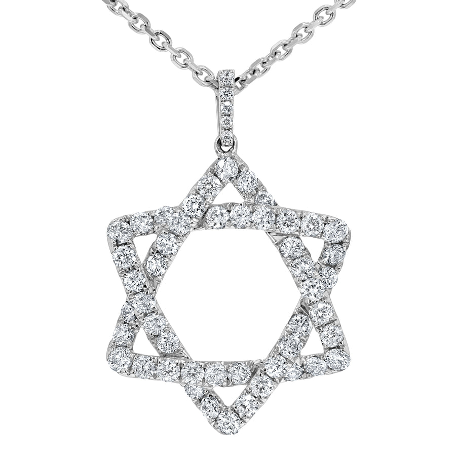 Star of David Diamond Pendant, 1.30 Carats - R&R Jewelers
