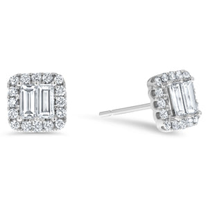 Diamond Illusion Stud Earrings - R&R Jewelers