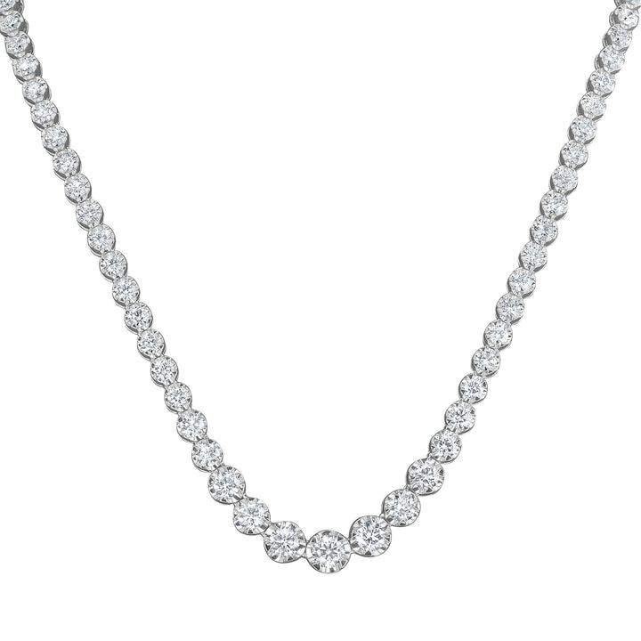 Graduated Round Diamond Necklace - R&R Jewelers