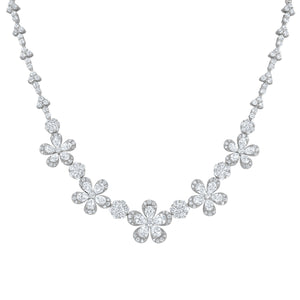 Diamond Floral Necklace - R&R Jewelers