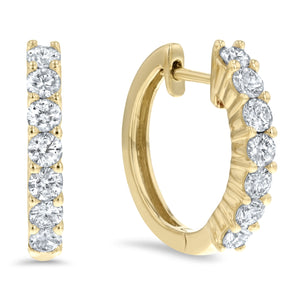 Diamond Huggie Earrings, 0.60 ct - R&R Jewelers