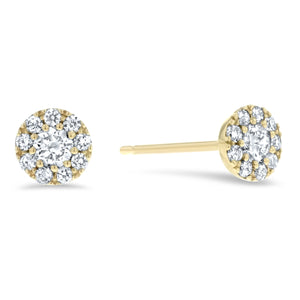 Diamond Cluster Stud Earrings, 0.31 ct - R&R Jewelers