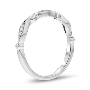 Wave Flow Halfway Diamond Band - R&R Jewelers