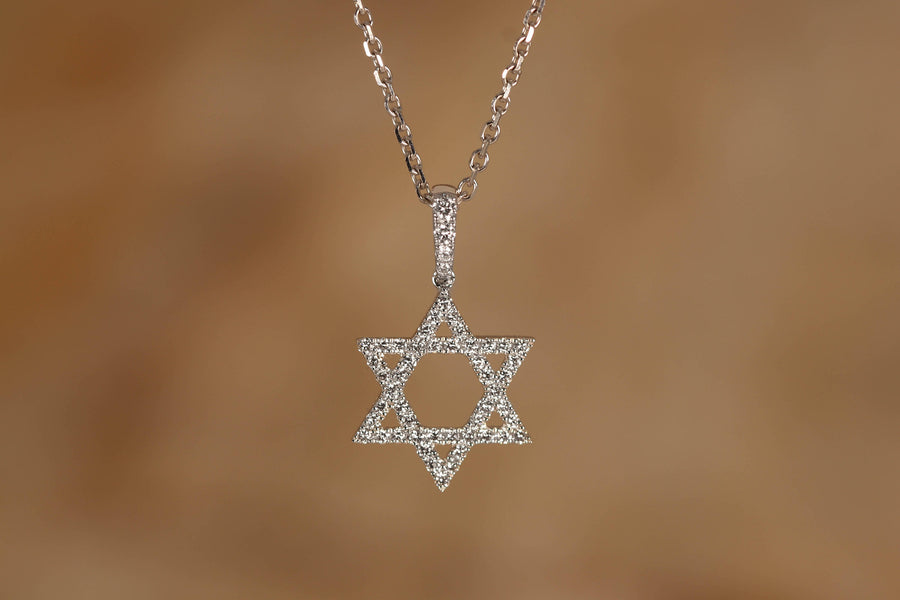 Star of David Diamond Pendant - R&R Jewelers