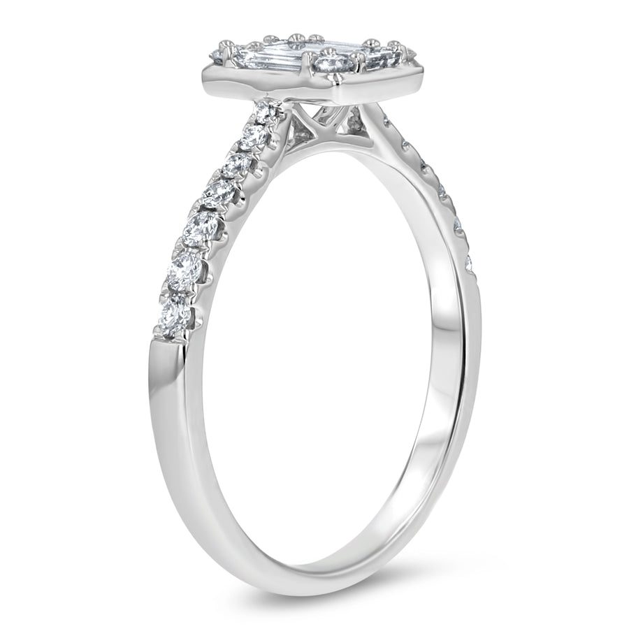 Baguette Cluster Engagement Ring - R&R Jewelers