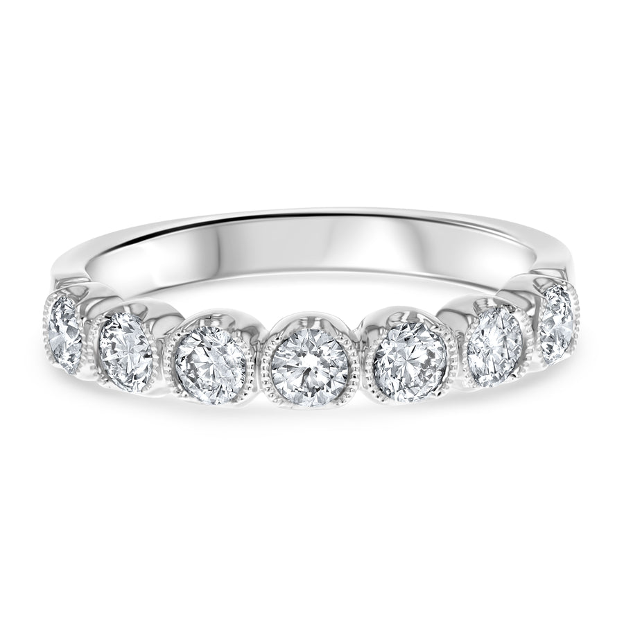 Bezel Set Diamond Wedding Band - R&R Jewelers