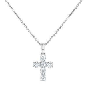 Round Brilliant Diamond Cross, 1.11 Carats - R&R Jewelers
