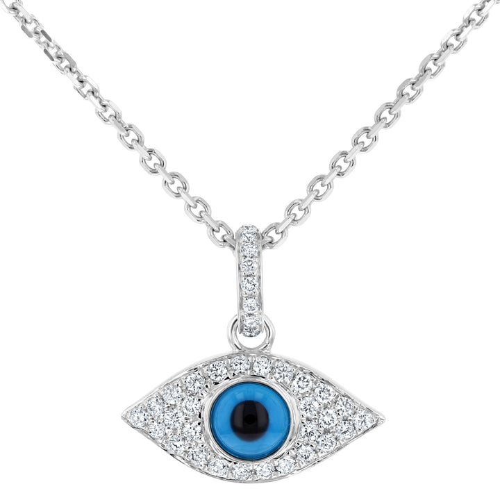 Evil Eye Diamond Pendant - R&R Jewelers