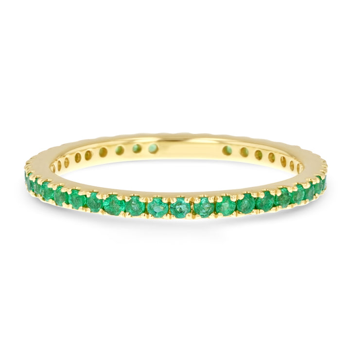 Emerald Eternity Ring - R&R Jewelers