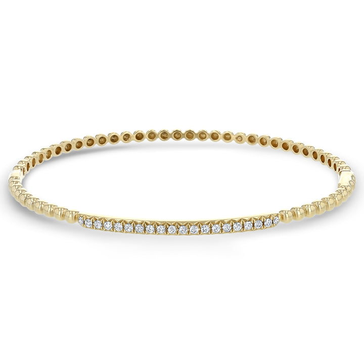 Beaded Diamond Bangle, 0.28 ct - R&R Jewelers