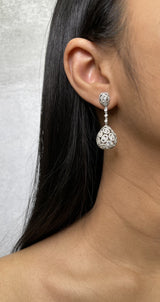 Pear Shape Diamond Drop Earrings