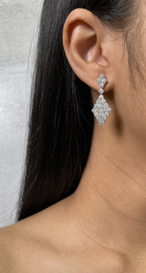 Diamond Kite Shaped Drop Earrings