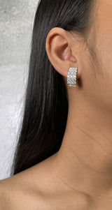 Diamond Lever Back Earrings (E0881)