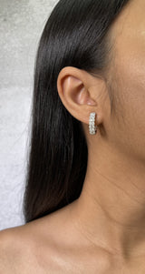 Diamond Illusion Huggie Earrings (E4103)