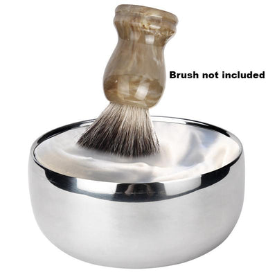 Large Double Layer Stainless Steel Shaving Bowl