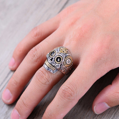 100% Real 925 Sterling Silver Skull Ring