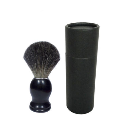 Pure Badger Hair Shaving Brush With Black Acrylic Handle - Gift Case