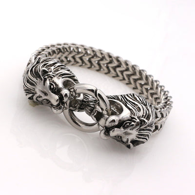 Double Lion Bangle Bracelet