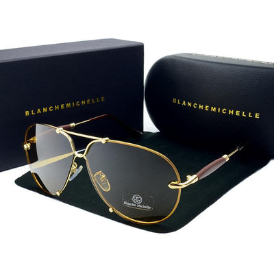 Aviator Rimless Sport Sunglasses
