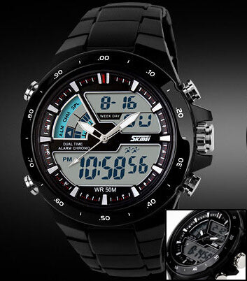 Sports Watch With LCD Display - Stop Watch Function