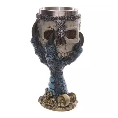 Stainless Steel And Resin Gothic Goblets