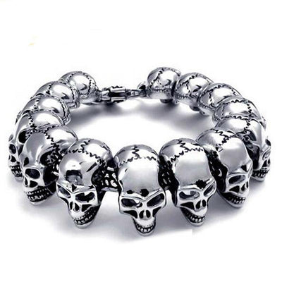 Band Of Skulls Stainless Steel Bracelet