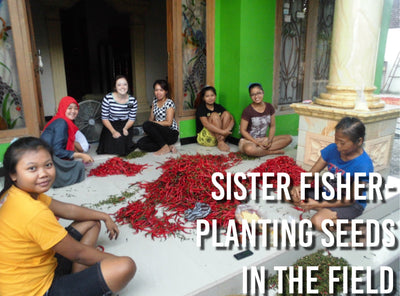 Sister Fisher- Planting Seeds in the Field