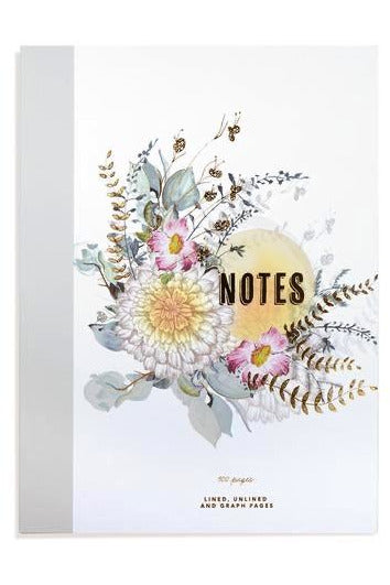 Accessories - Sunrise Petals Cloth Bound Notebook