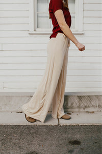 Dress Slacks-Sisters - Alana Front Tie Pant Khaki