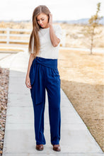 Load image into Gallery viewer, Dress Slacks-Sisters - Emma High Waist Pants Navy