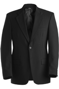 Edwards Poly/Wool Suits - Poly/Wool Blend Suit Coat Black