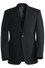 Load image into Gallery viewer, Poly/Wool Blend Suit Coat Navy