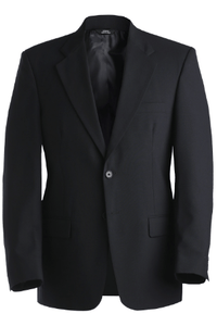 Poly/Wool Blend Suit Coat Navy