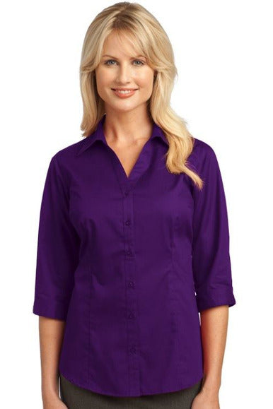 General - 3/4 Sleeve Blouse Deep Purple