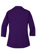 Load image into Gallery viewer, 3/4 Sleeve Blouse Deep Purple