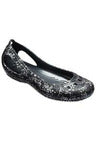 Crocs Kadee Graphic World Flat Blk/Sil