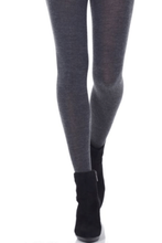 Load image into Gallery viewer, Merino Wool Tights Graphite Mix