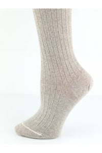 General - Merino Wool Tights Oatmeal Ribbed