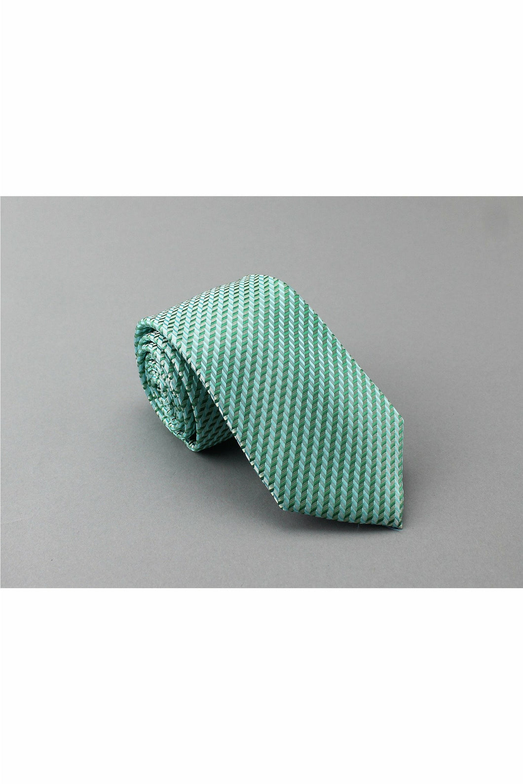 General - Polyester Pocket Tie - Green Stripes