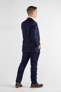 General - Robbins & Brooks Gold 2-Pant Wool Blend Suit Midnight Blue