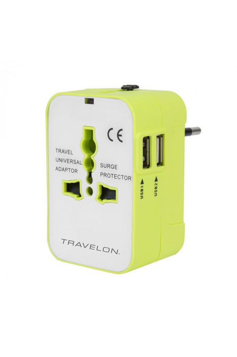 General - Worldwide Travel Adapter With Dual USB Chargers