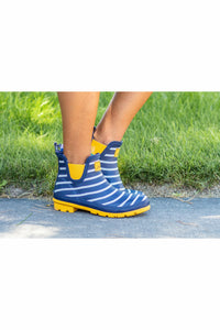 Joules Rain Boot - Wellibob Navy & White Stripes