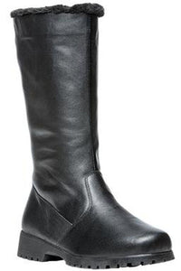 Propet Madison Tall Leather Boot Black