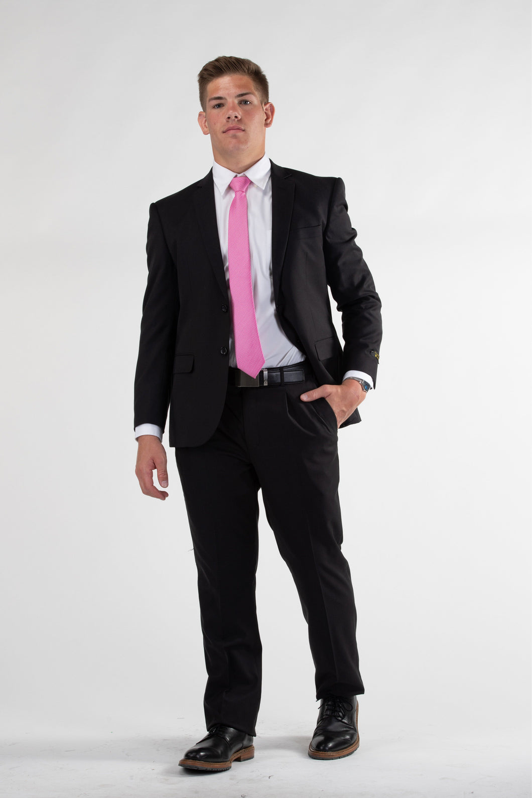 Robbins & Brooks Gold Suit - Robbins & Brooks Gold 2-Pant Wool Blend Suit Black
