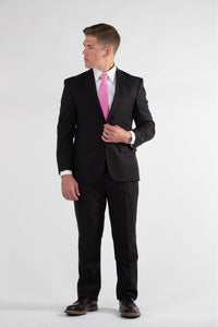 Robbins & Brooks Gold 2-Pant Wool Blend Suit Black