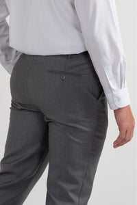 Robbins & Brooks Gold 2-Pant Wool Blend Suit Light Grey