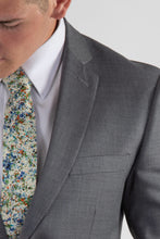 Load image into Gallery viewer, Robbins & Brooks Gold 2-Pant Wool Blend Suit Light Grey